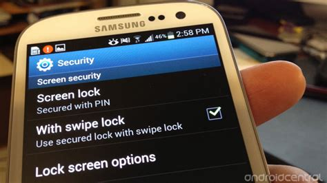 samsung screen pinning how to set lock screen and security options on galaxy s3 android central