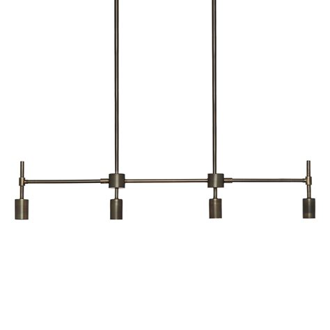 Linear Pendant Lighting Lights Ceiling Lights Chandeliers Prospect 4 Light Linear Pendant Bronze