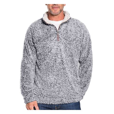 true grit s frosty tip pile 1 4 zip pullover sweater