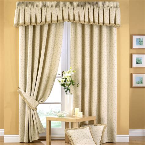 curtain valence folia jacquard pencil pleat curtain valance pelmet natural