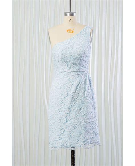 lace light blue bridesmaid dresses light blue lace bridesmaid dress one shoulder for