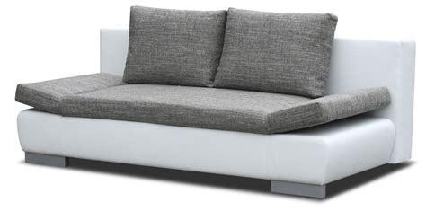 sofa mit ottomane und bettfunktion sofa leandro in grau wei 223 mit bettfunktion und