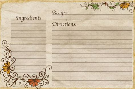 Typeable Recipe Card Template by Aletheia Free Recipe Cards Made By Yours Truly