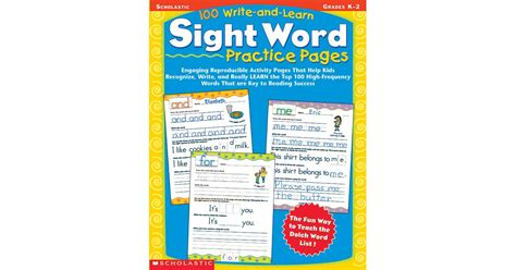 100 write and learn sight word practice pages sc