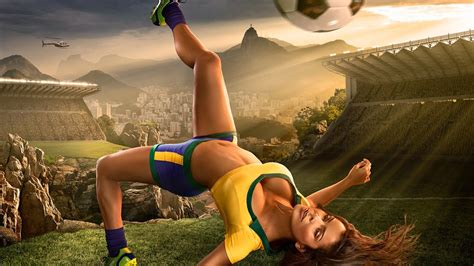 new themes hot brazil world cup 2014 football baby sexy wallpaper hd