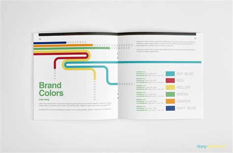 brand identity guidelines template brandbook zippypixels