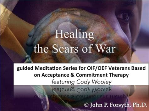 veterans therapy act healing the scars of war a guided meditation companion for oif oef veterans using