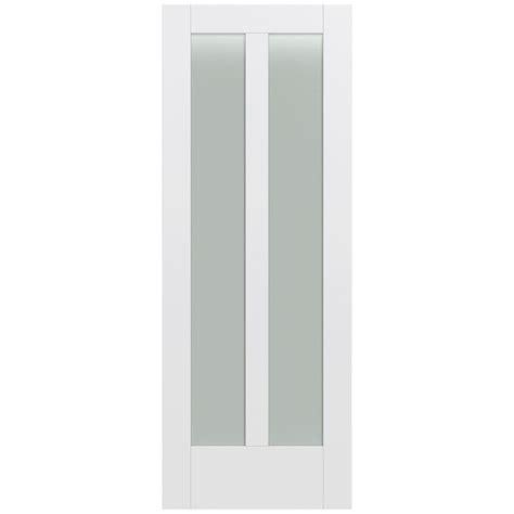 Jeld Wen 32 In X 80 In Moda Primed White 7 Lite Solid Translucent Glass Doors