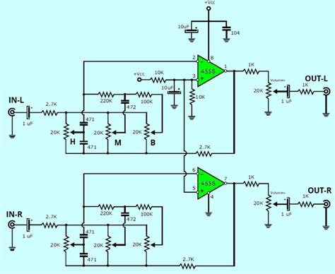 Ic Tda 2003 Ic St Audio Lifier stereo tone controlled 12v lifier circuit with tda2003 electronics projects circuits