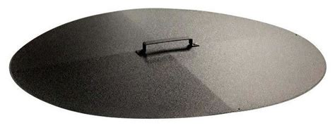 round fire pit cover snuffer transitional fire pit