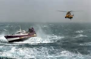 fishing boat sinks in irish sea mayday moment french fisherman is plucked from stormy