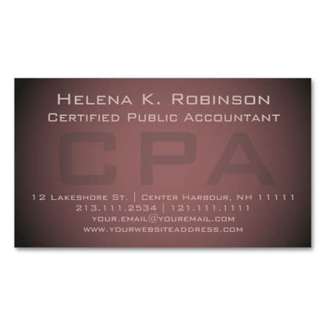 cpa business cards template ready 210 best images about accountant business cards on