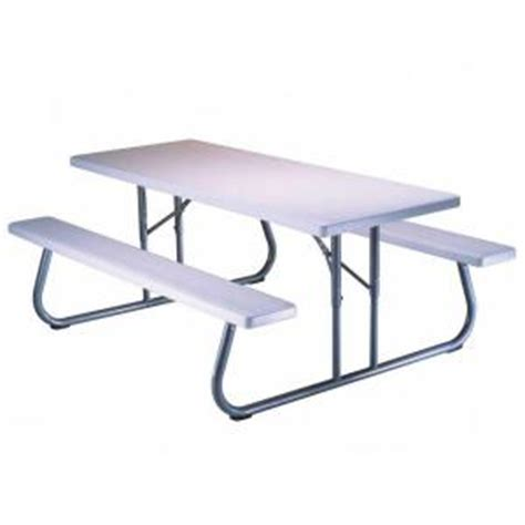 folding picnic table home depot lifetime 57 in x 72 in folding picnic table 80215 the