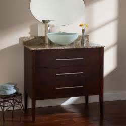 vanity cabinet for vessel sink 36 quot wiley walnut vanity cabinet for vessel sink material