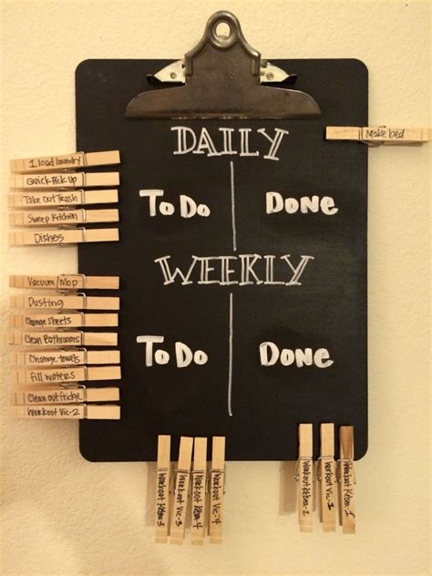 diy chalkboard chore chart even grown ups need a chore chart daily and weekly