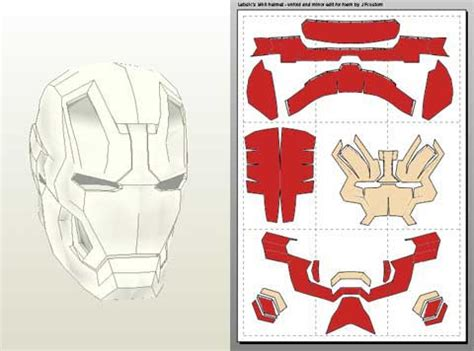 ironman mask template jfcustom s foam files