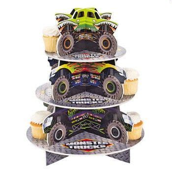 monster jam truck party supplies monster jam cupcake stand monster truck party