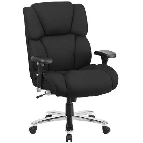 high  black fabric intensive  multi shift swivel office chair  lumbar support knob