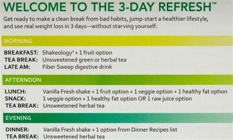 healthy fats 3 day refresh 3 day refresh review meal plan and results