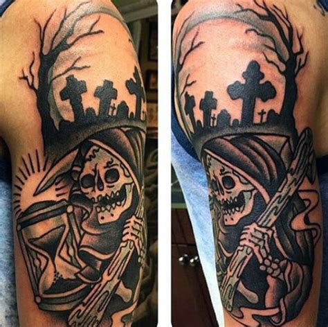 grim reaper forearm tattoo 70 grim reaper tattoos for merchant of designs