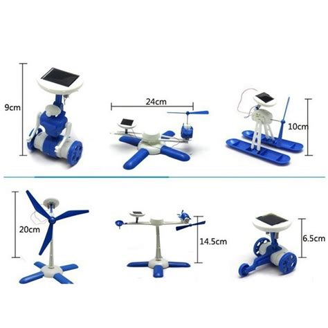 educational 6 in 1 diy solar hybrid robot kit blue gray jakartanotebook