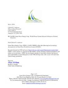 rfp response cover letter exles green wave mobile power system rfp response