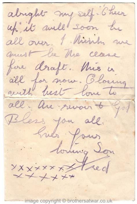 Letter Closing Salutations God Bless Fred Horsnell Letters June 1916