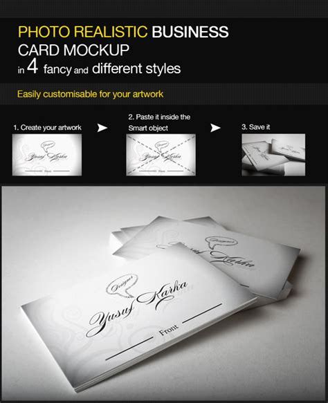 business card mockup display smart template 04 business card mock up smart template pack by ysfkrk on