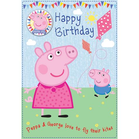 printable birthday cards uk peppa pig printable birthday cards pictures to pin on