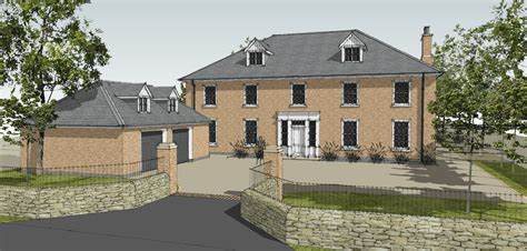 make house new build georgian inspired house leaf architecture