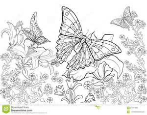 Drawn Ink Pattern Coloring Book For Adult Page  sketch template