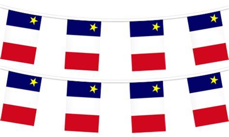 acadian flag strings flag of acadia pennant strings