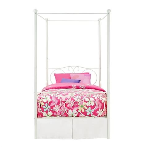 white twin canopy bed metal twin canopy bed in white 3265098