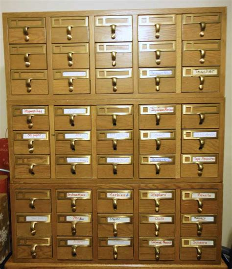 Library Card Catalog Furniture by Card Catalog Elkins