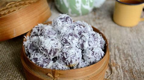 cara membuat klepon warna ungu cara membuat klepon ubi ungu youtube