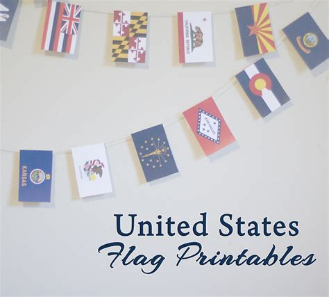 free printable us state flags someday crafts united states flag printables