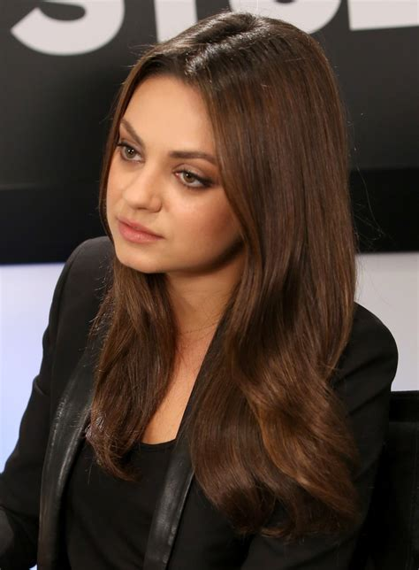 mila kunis long center part mila kunis looks stylebistro