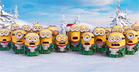 minions christmas ms gif find  gifer