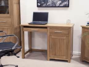 Computer Desks Furniture Eton Solid Oak Modern Furniture Small Office Pc Computer Desk Ebay