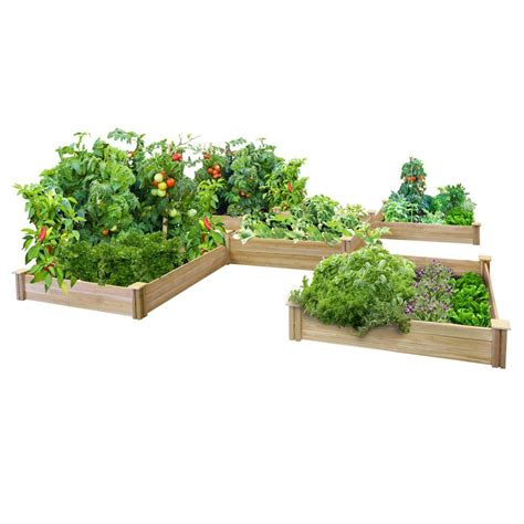 greenes fence  sq ft dovetail raised bed garden kit