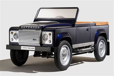 land rover sedan concept land rover previews bespoke defender pedal car concept at