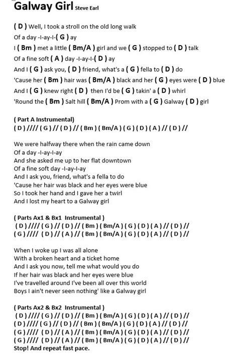 Galway Girl Chords And Lyrics