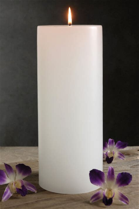 Home Decor Candle Lanterns 4x10 White Candle Unscented