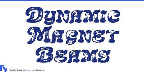 Font Acrylic acrylic brush font by typodermic fonts inc fontspring
