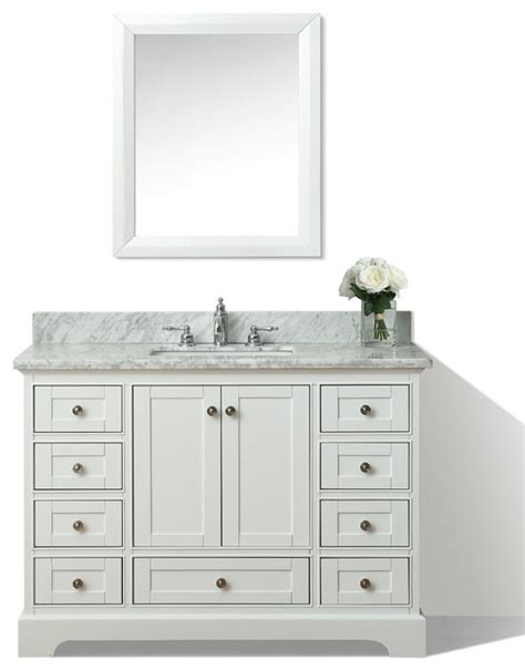 Bathroom Vanities Houzz 48 quot bath vanity set white houzz exclusive
