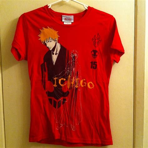 hot topic anime 60 off tops bleach ichigo hot topic anime shirt top