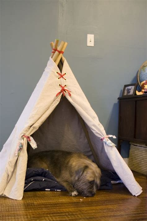 puppy teepee make our a teepee puppy