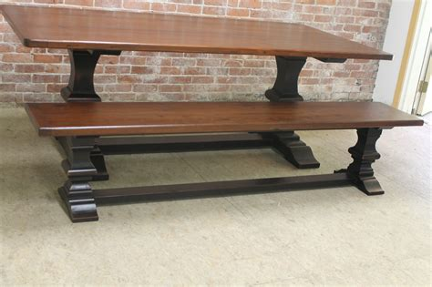 trestle table bench venetian trestle table with matching bench lake and