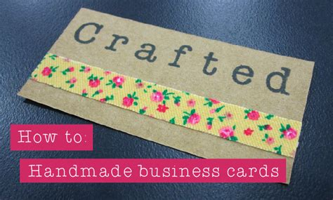 Handmade Business Cards Ideas - crafted how to handmade business cards