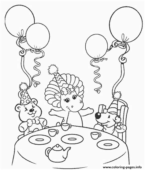 happy birthday barney coloring pages barney happy birthday s6476 coloring pages printable